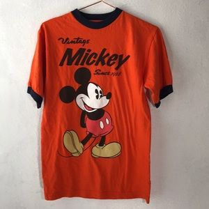 Mickey Mouse ringer t shirt